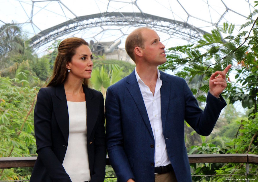 Will and Kate in the Eden Project