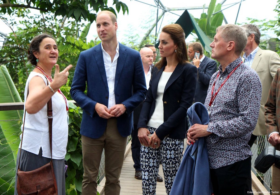 Kate Middleton and Prince William at the Eden Project