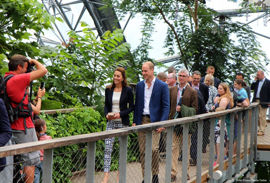 William and Kate visit the Eden Project in Cornwall