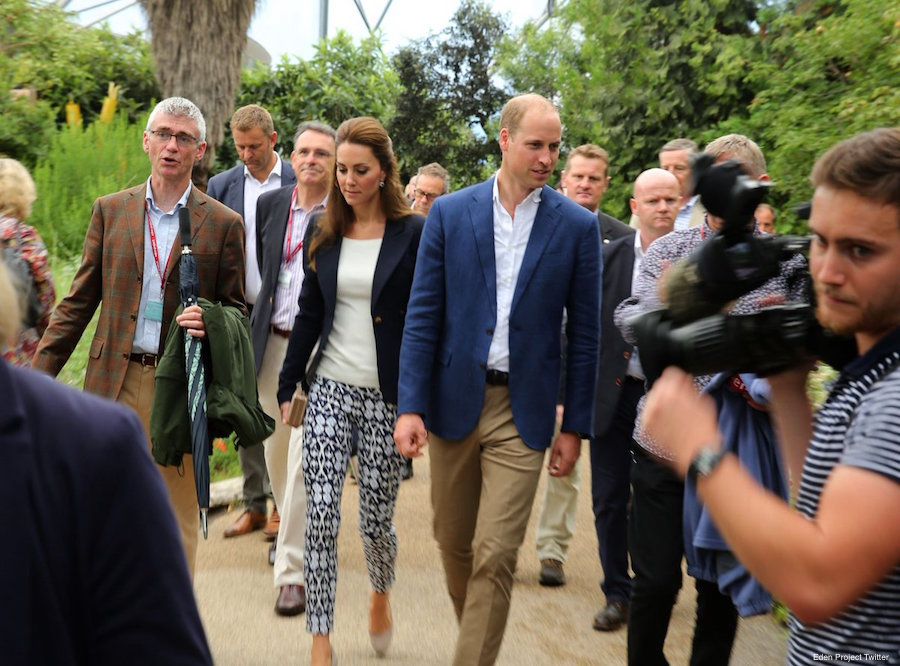 William and Kate at the Eden Project in Cornwall