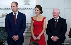 Kate in stunning red gown for historic reconciliation ceremony & reception in Victoria