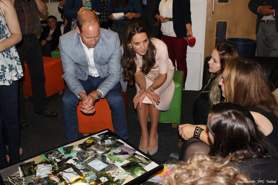 William and Kate visiting Zebs, run by Young People Cornwall