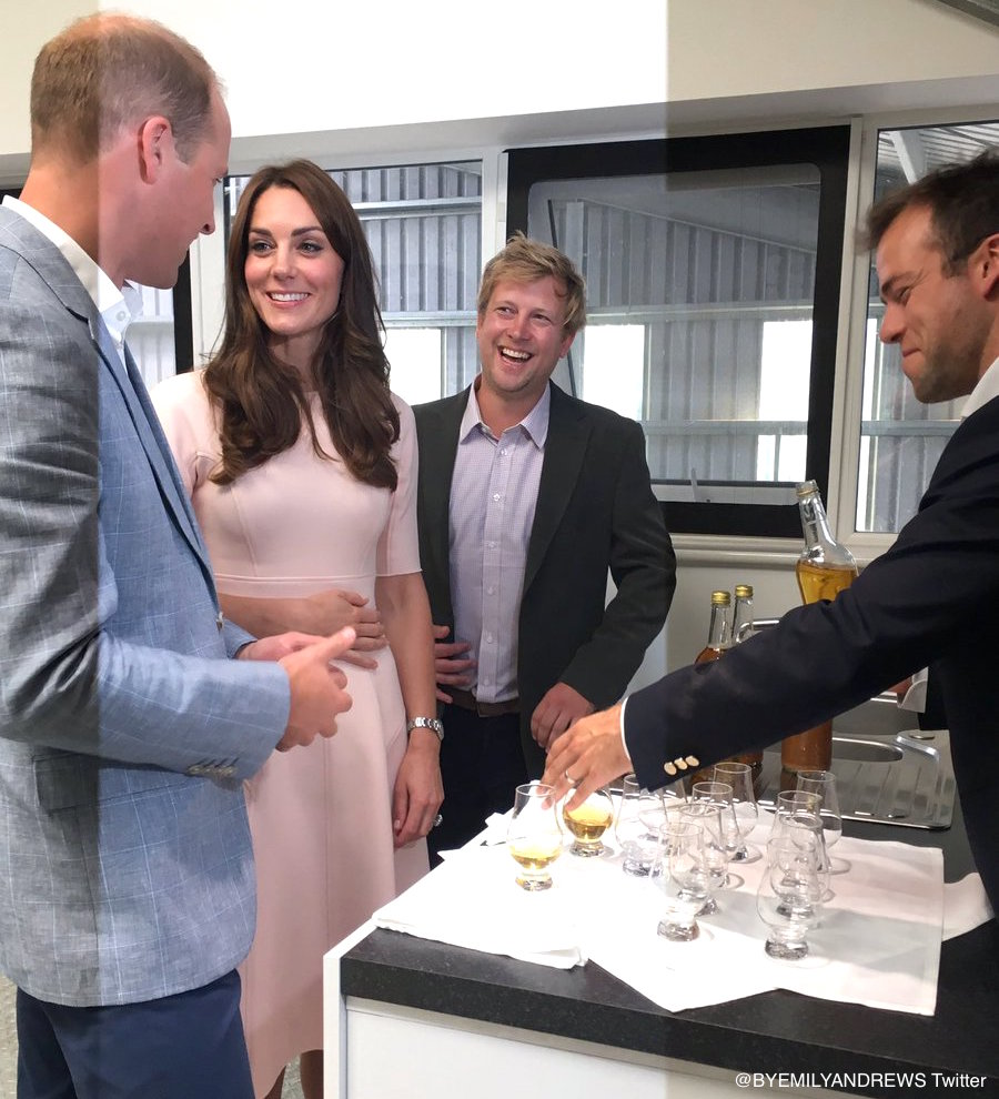 William & Kate sampling cyder in Cornwall