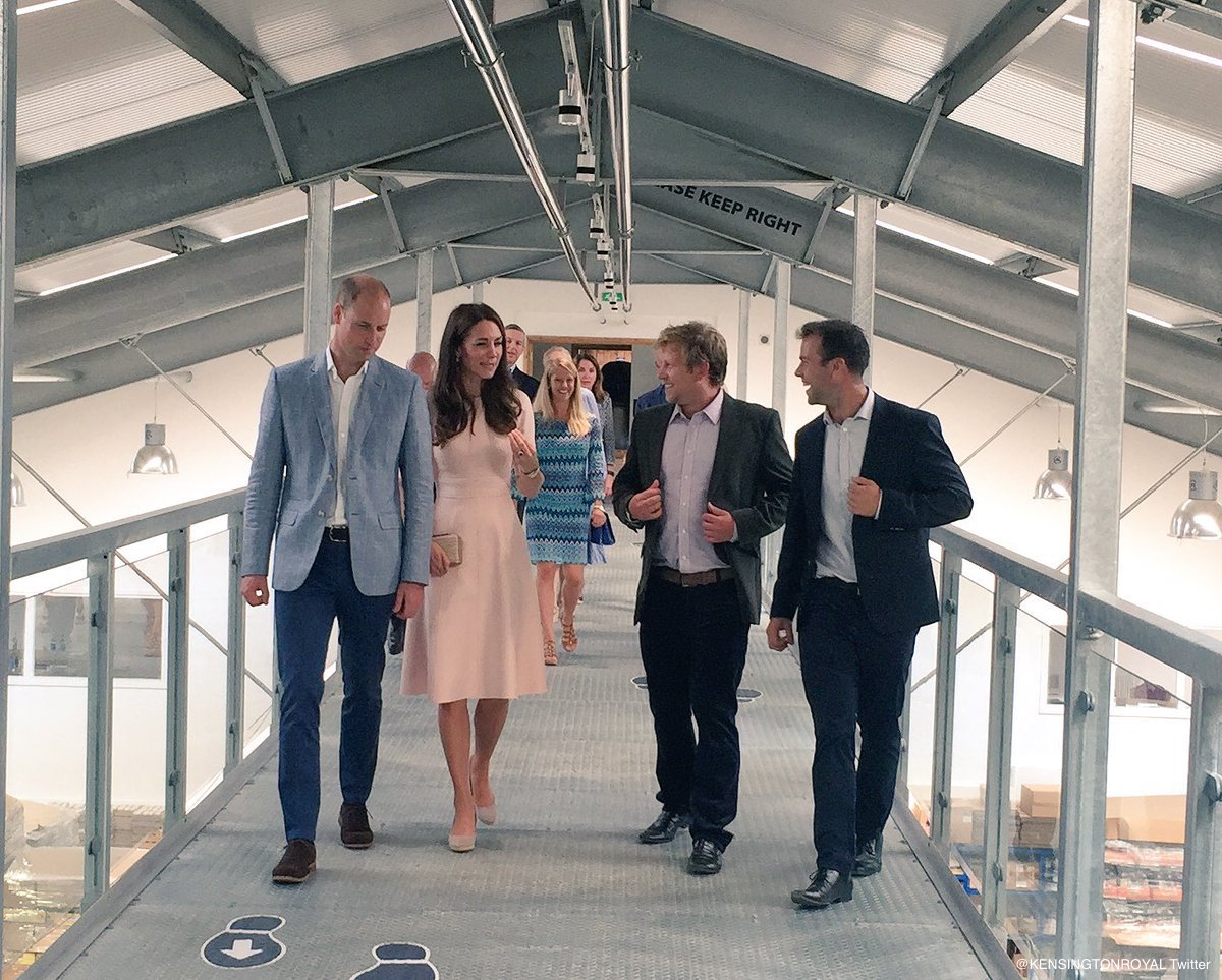William and Kate tour the Cyder Farm