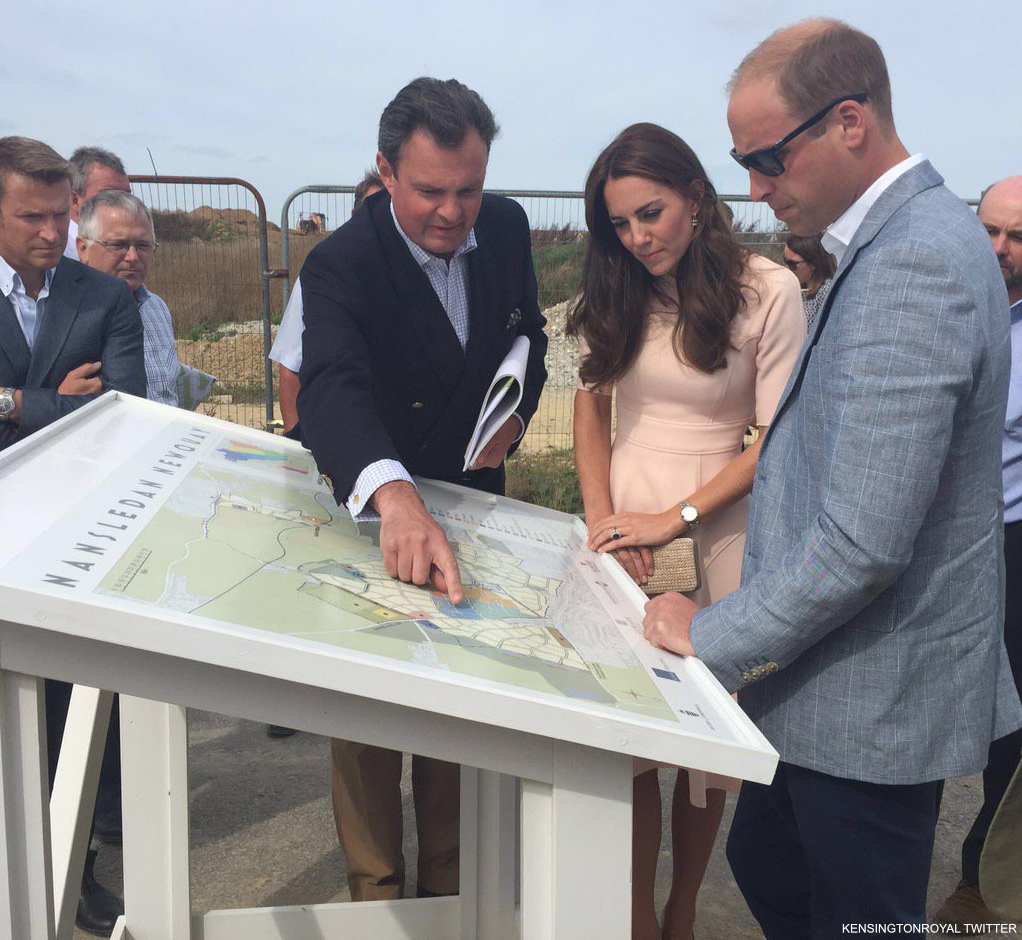 The couple visit developments supported by the Duchy of Cornwall