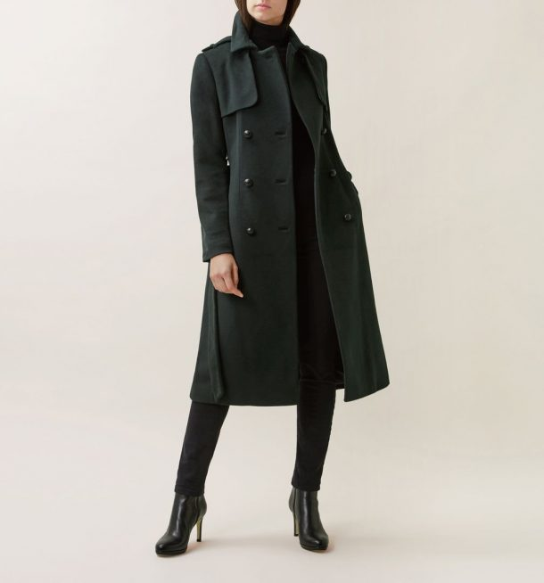 Hobbs Green Trench Coat