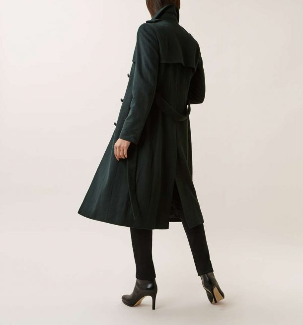 Hobbs London Green Trench Coat