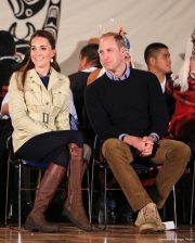 Kate Middleton and Prince William in Bella Bella, Canada in September 2016