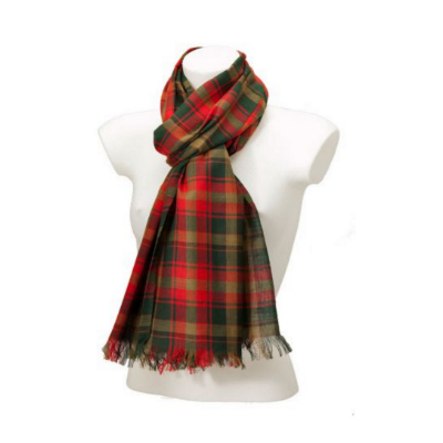 York Scarves Maple Leaf Tartan Scarf