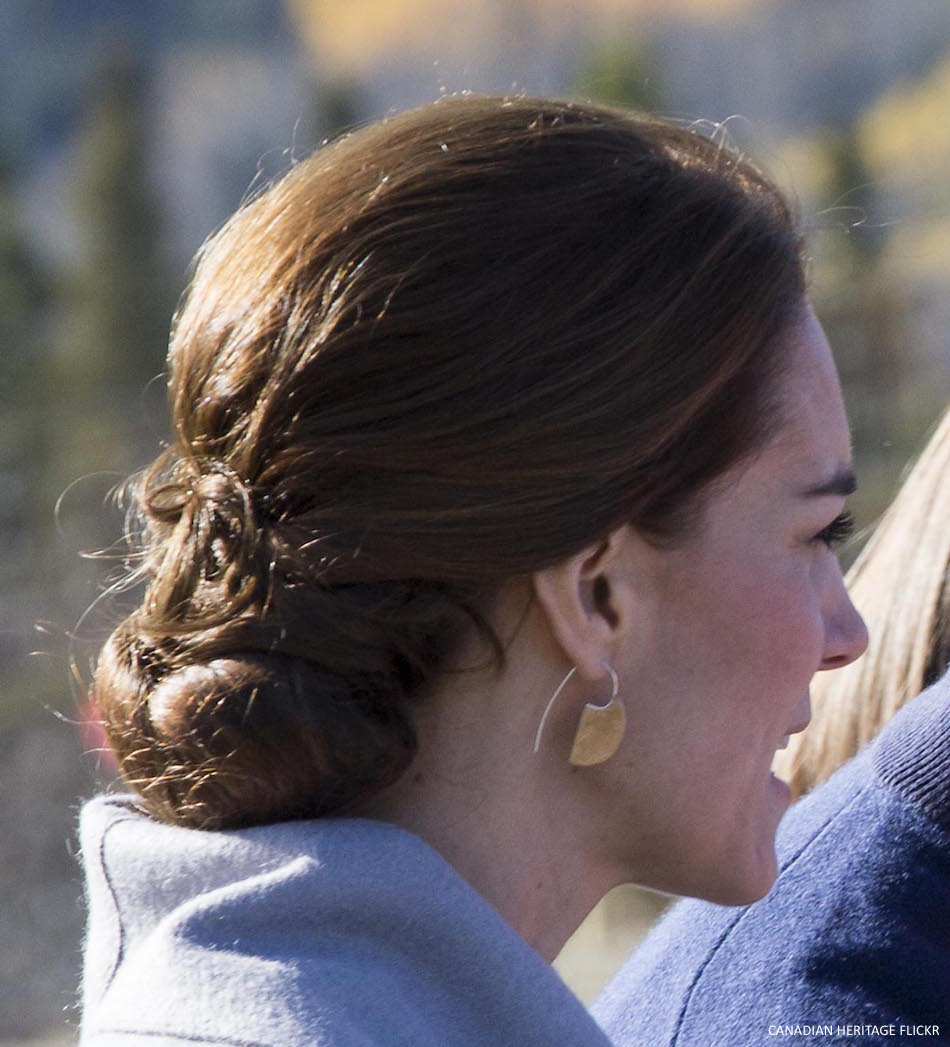 Kate Middleton wearing Shelley Silversmith earrings in Yukon