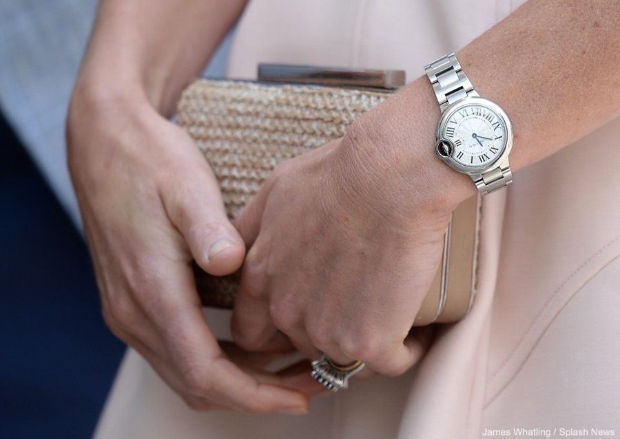 Kate Middleton wearing her Cartier Ballon Bleu watch