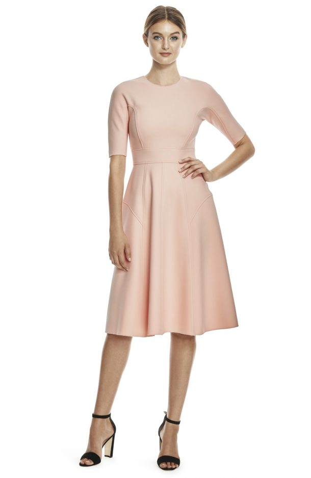 Lela Rose Dress in Blush Pink
