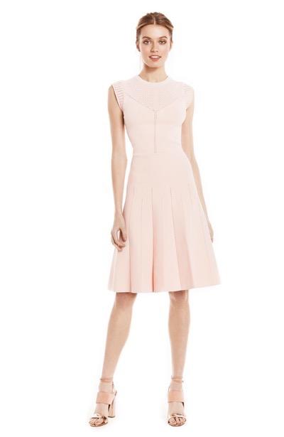 Lela Rose Blush Pink Fit and Flare dress