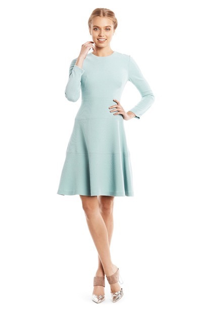 Lela Rose Baby Blue Sleeved Dress
