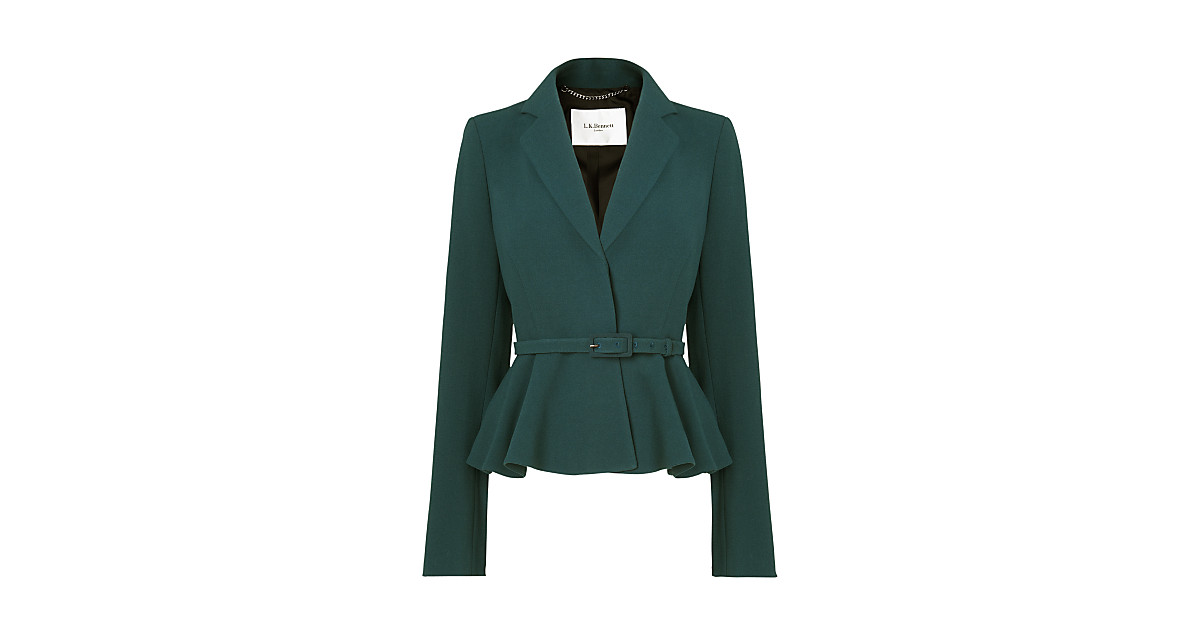 L.K. Bennett Jetta Jacket in Teal