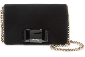 Miu Miu bow clutch bag in black