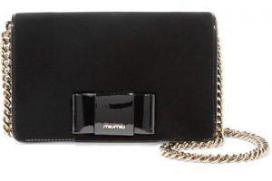 Miu Miu bow clutch bag in black