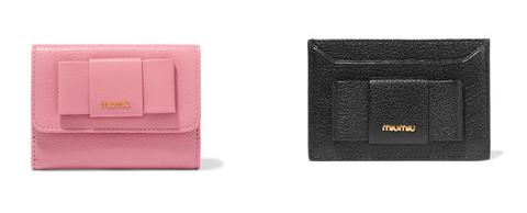 Miu Miu bow cardholder and wallet