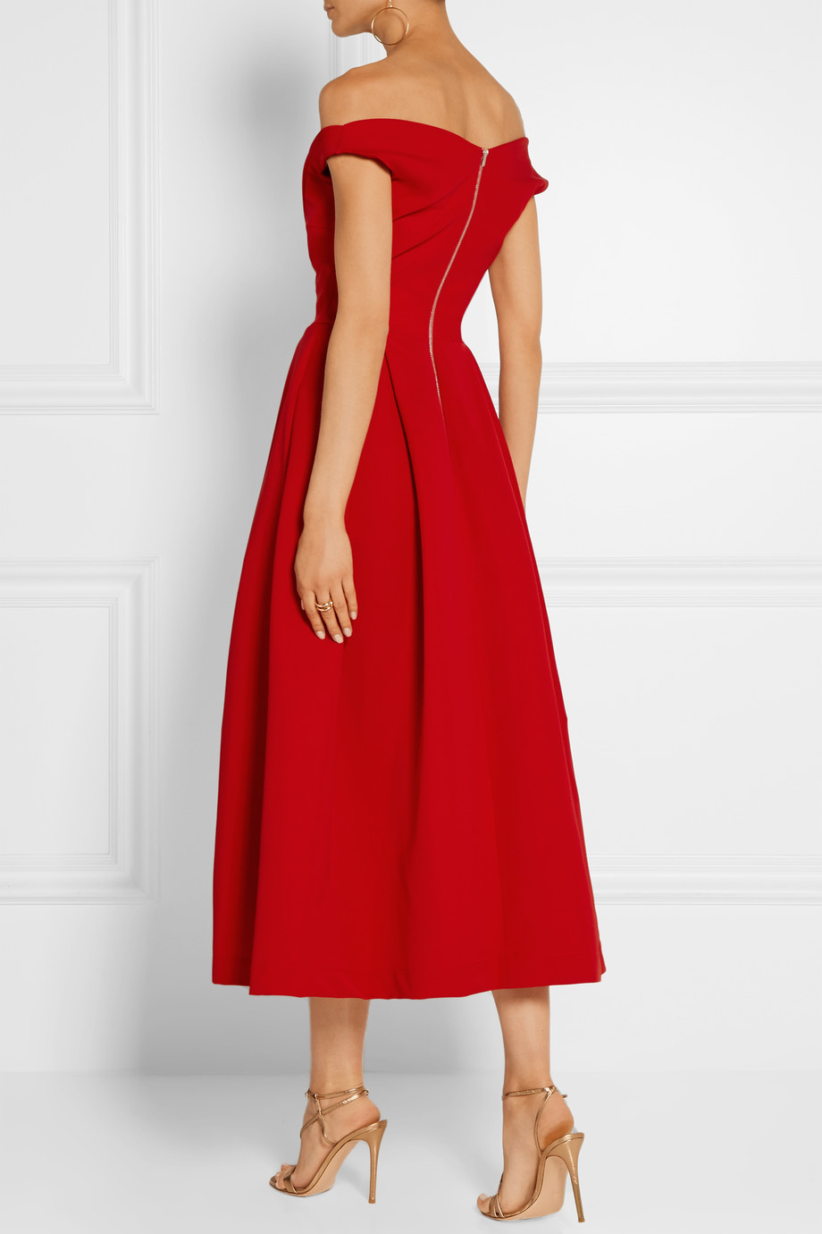Back of the red Preen Finella dress