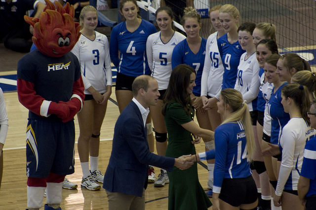 William and Kate meeting Varsity Athletes at UBC