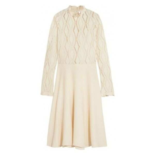 See by Chloé pointelle-knit dress
