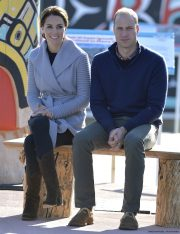 The Duke and Duchess of Cambridge visit Carcross and meet the people in Carcross, Yukon, Canada, on the 28th September 2016.