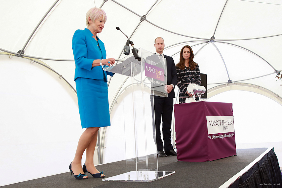 Prince William and Kate Middleton visit the University of Manchester