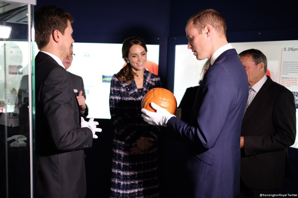 Prince William visits the National Football Museum in Manchester