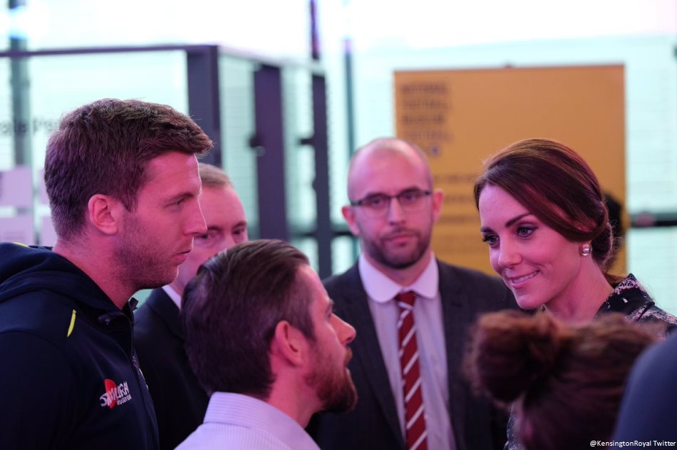 Kate Middleton met with young people at the National Football Museum in Manchester