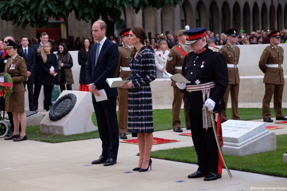 Prince William and Kate at the Cenotaph in Manchester today
