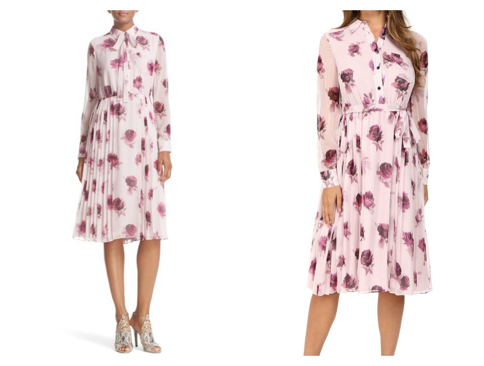 Kate Spade Encore Rose Print Dress
