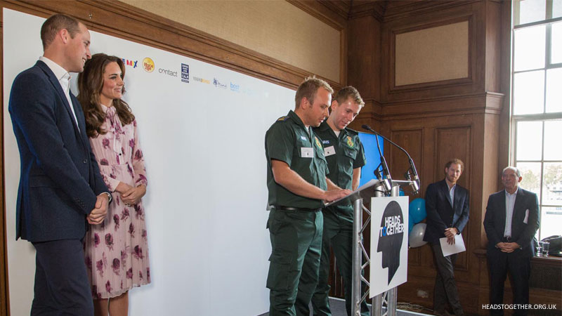 William, Kate and Harry at the World Mental Health Day event in London