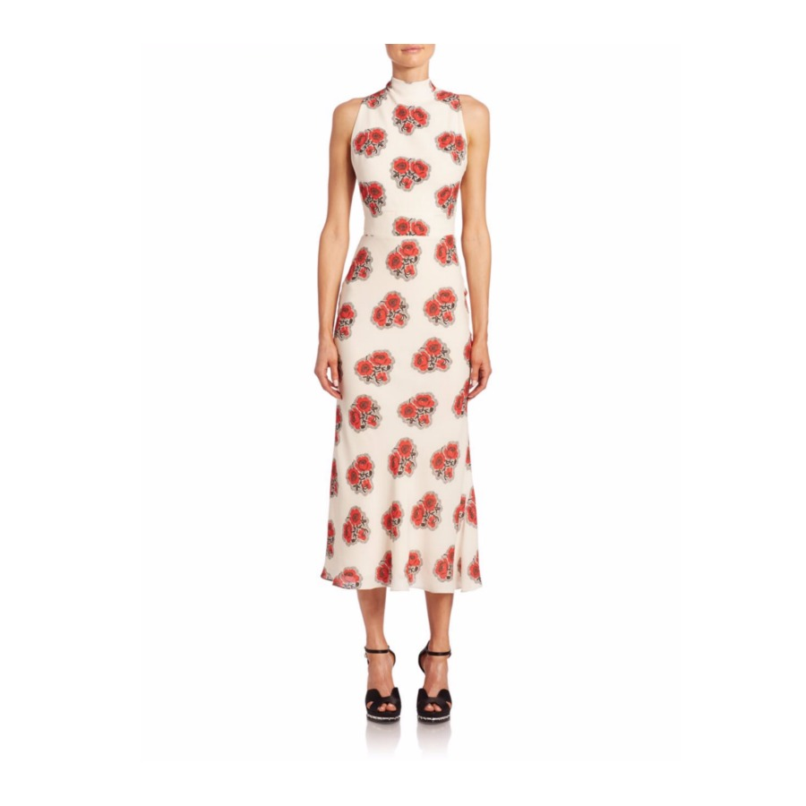 Alexander McQueen Poppy Print Dress