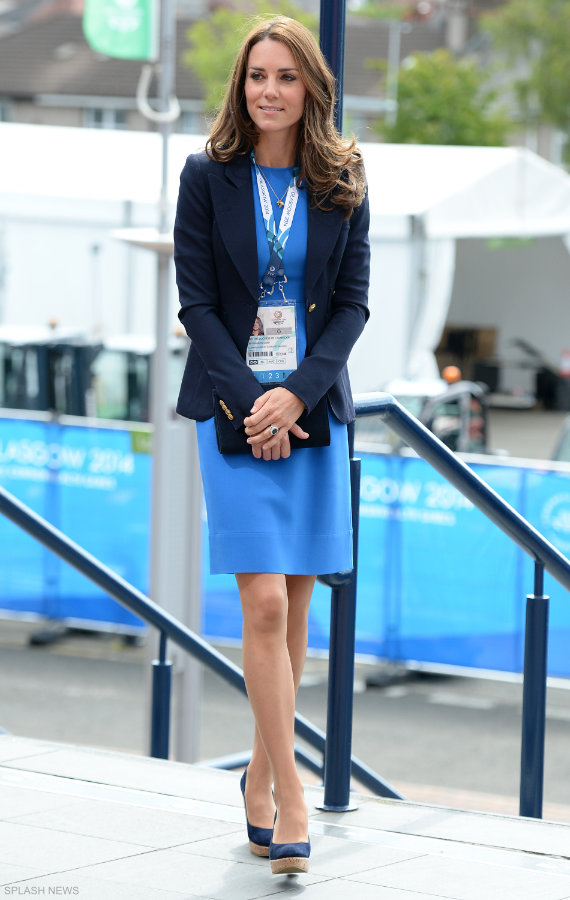Kate Middleton Wearing Her Blue Stella Mccartney Dress