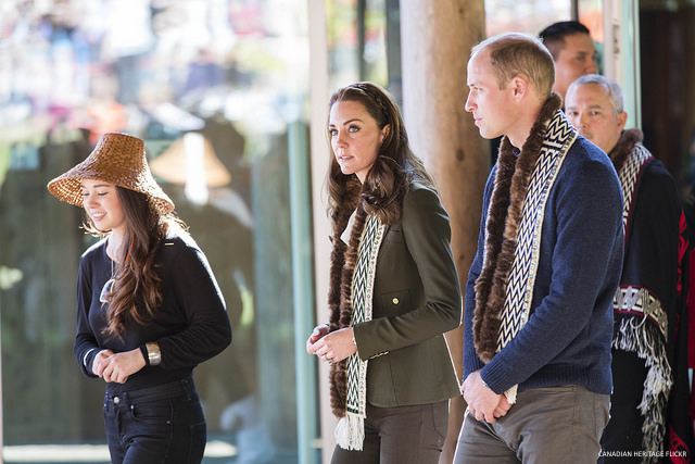 Kate Middleton wearing her 'army green' Duchess blazer by Smythe Les Vestes