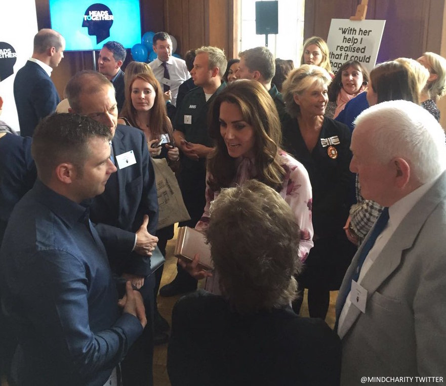 Kate speaks with firefighter about mental health