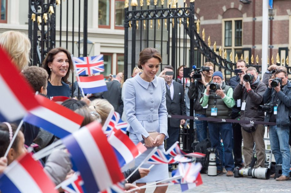 Kate Middleton at the Mauritshuis museum in the Netherlands