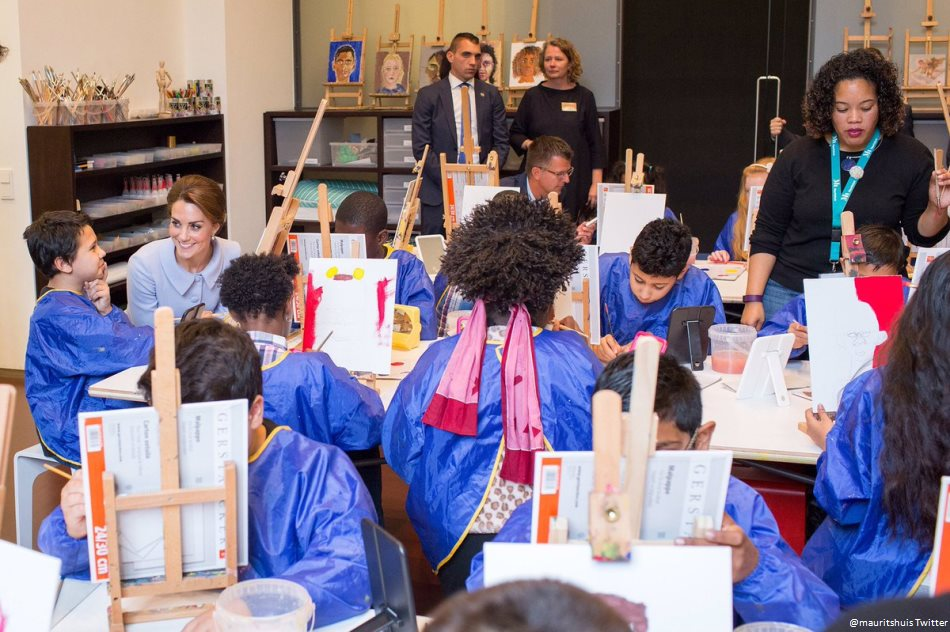 Kate Middleton attends an art class at the Mauritshuis museum