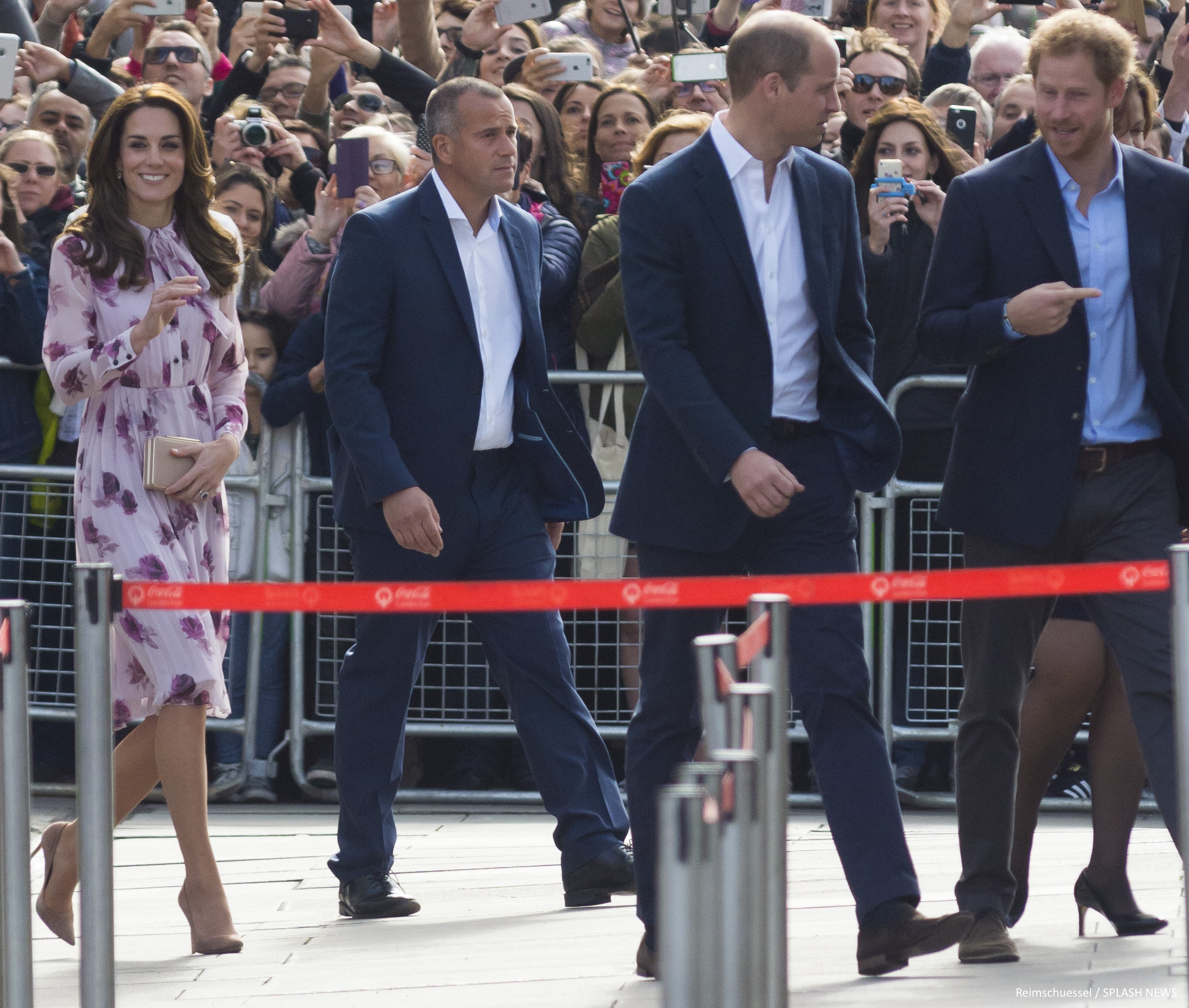 William, Kate and Harry celebrate World Mental Health Day at the London Eye