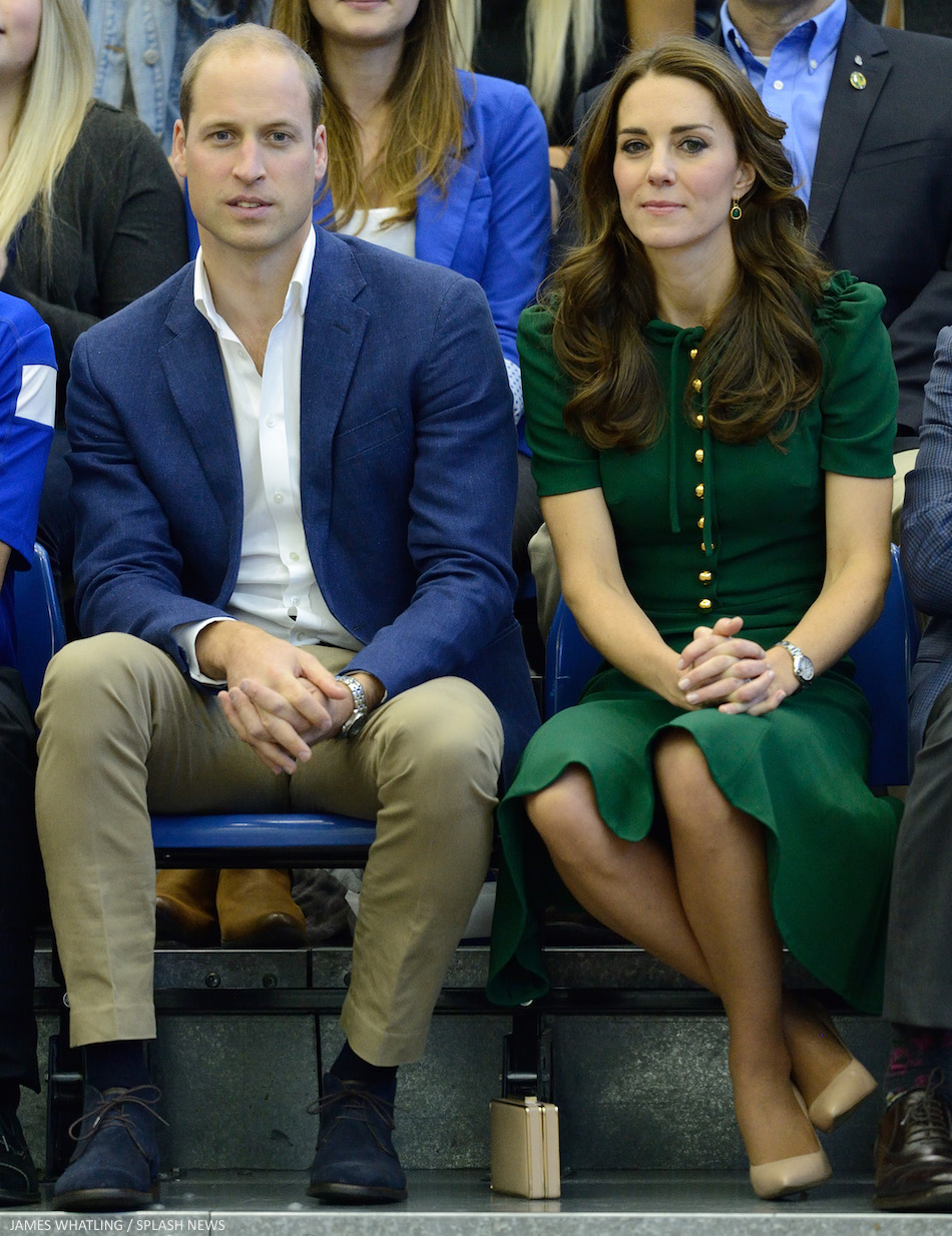 William and Kate watching Volleyball in Canada