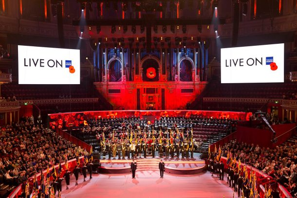 The 2016 Festival of Remembrance at the Royal Albert Hall. Picture via the Royal British Legion Facebook Page