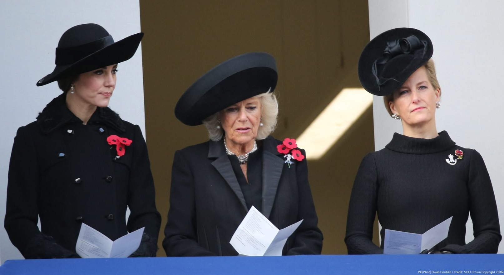 Duchess of Cambridge at the 2016 Service of Remembrance