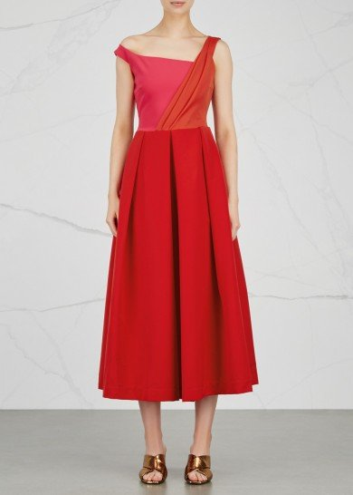 Preen Finella Dress in Red and Pink