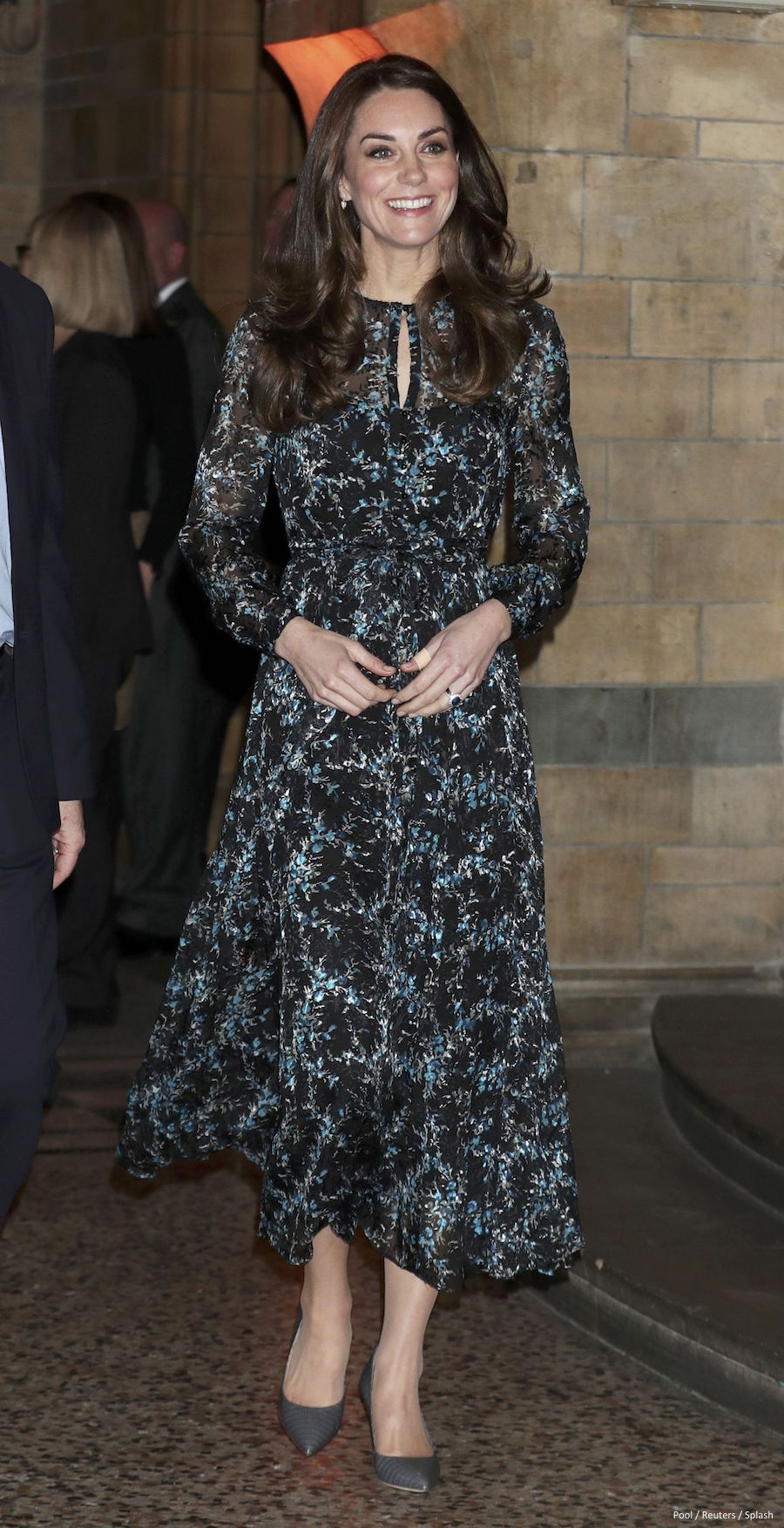 Kate Middleton wearing the L.K. Bennett Cersei dress