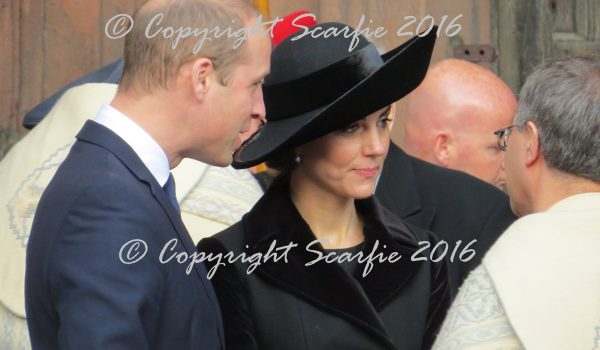 William and Kate attend the Duke of Westminster's memorial service