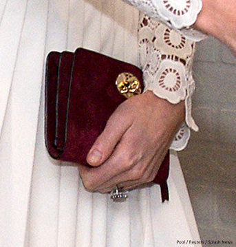 Kate Middleton carrying the Mulberry Bayswater bag in conker suede at the film premiere