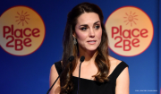 Kate Middleton attends the Place2Be awards wearing black dress from Preen