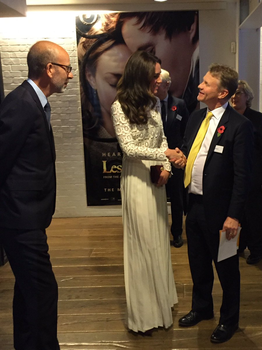 Kate Middleton meeting people from the Recovery Film Festival