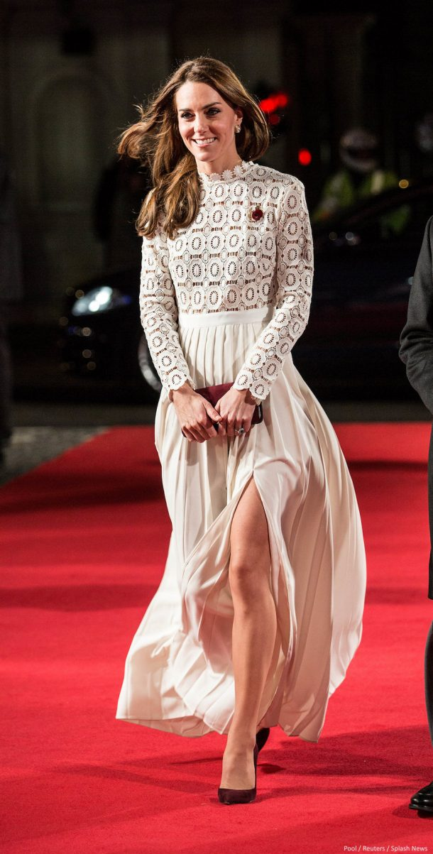 Kate Middleton attends the Street Cat Called Bob film premiere