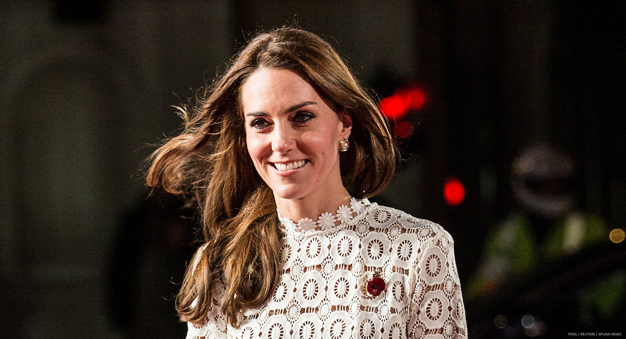 Kate Middleton wearing Oscar de la Renta earrings
